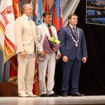 Почётный житель города Владимир Недзельский с главой города и председателем думы