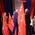 Вручение копии знамени Победы патриотическим объединениям Южного управленческого округа
